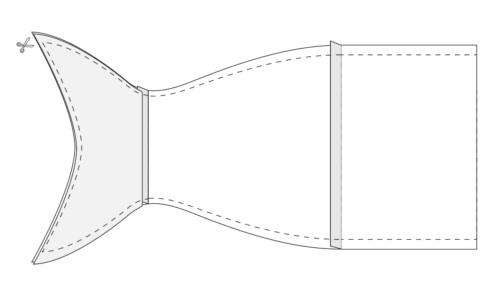 Как сшить сумку на кулиске в виде рыбки