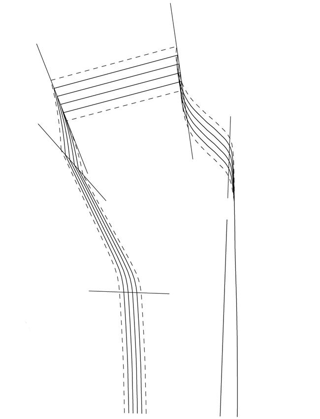 Как увеличить выкройку рукава по ширине 15