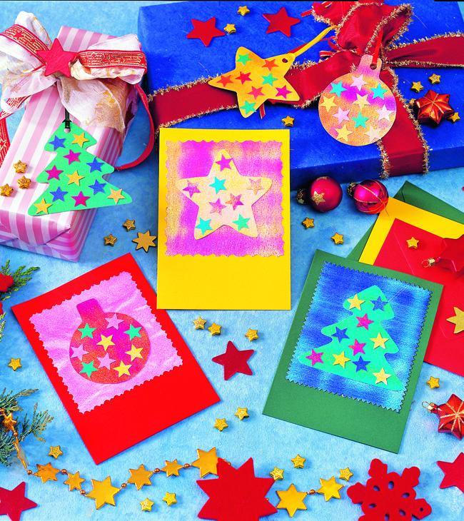 Бумажные ярлычки для новогодних поздравлений своими руками