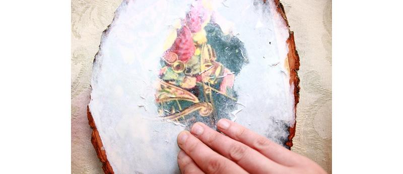 Декоративная подставка с новогодним декором своими руками