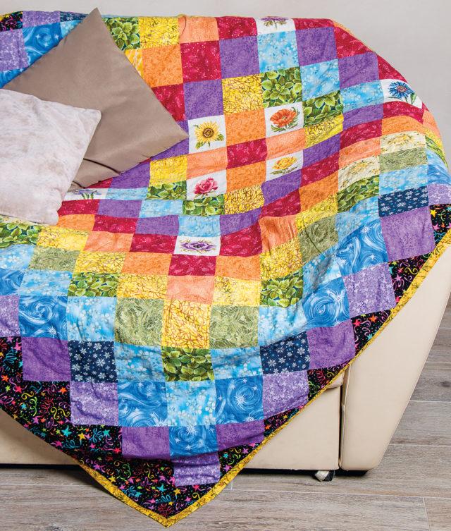 Как сшить одеяло встиле пэчворк