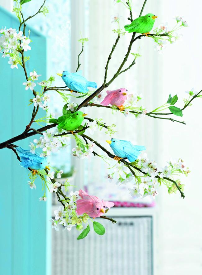 Птички из шёлковой бумаги своими руками