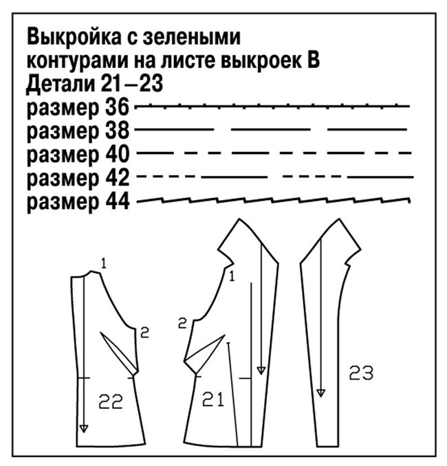 Сшить длинный жилет безрукавку выкройка бурда