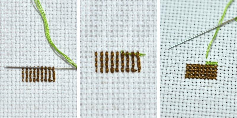 8 способов закрепить нить без узелка при вышивке
