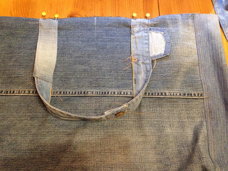 Большая пляжная сумка из старых джинсов своими руками