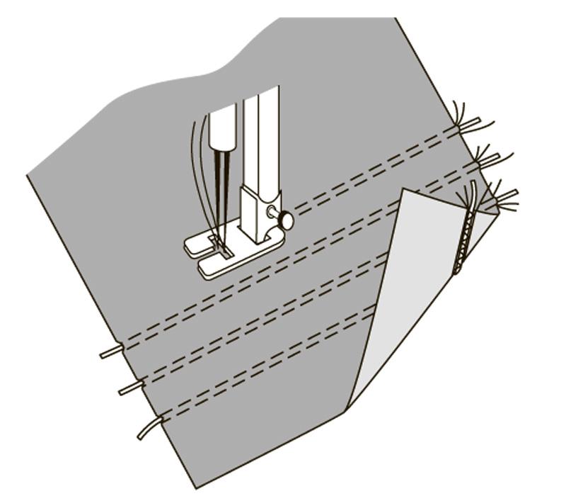 Как сделать защипы наткани