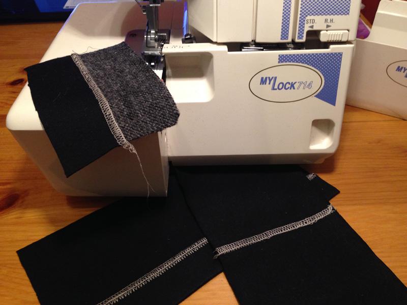 Как выполнить плоский шов на оверлоке?