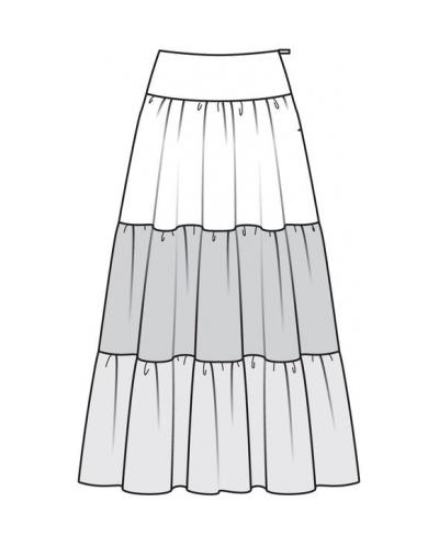 Сколько ткани на юбку в оборку
