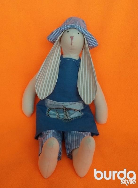 Куклы Тильда. Пасхальный заяц. Иллюстрированные 93