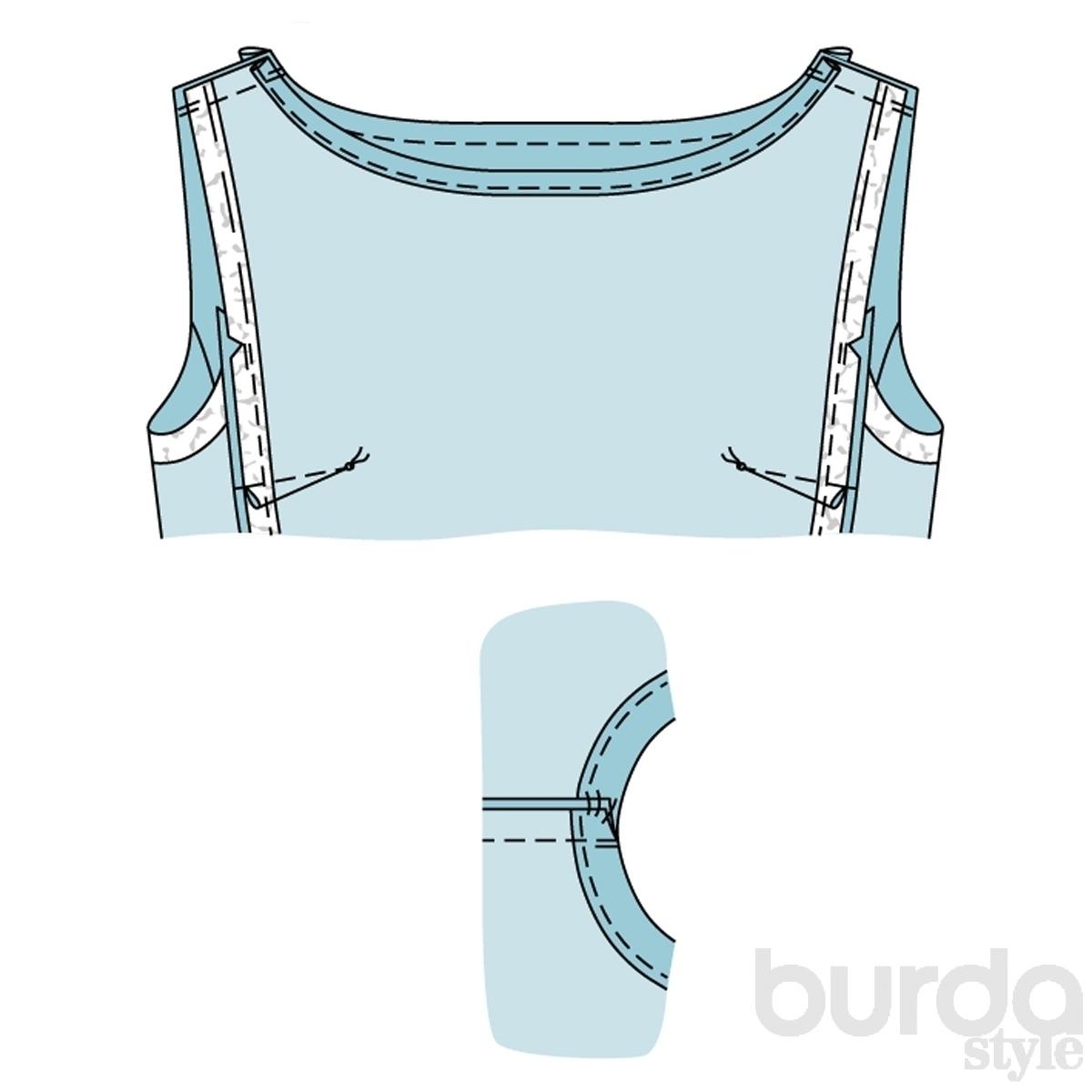 Бурда блузки из шифона