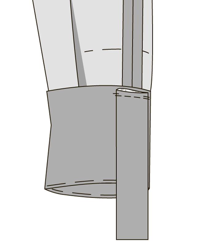 Как выполнить планки рукавов с патами