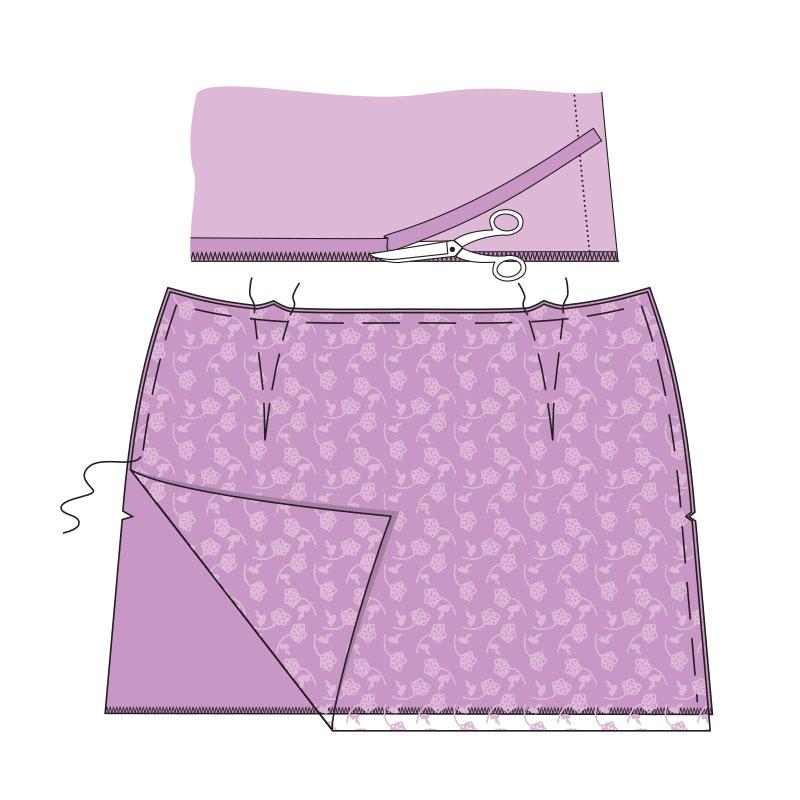 Сшить юбку на кулиске 16