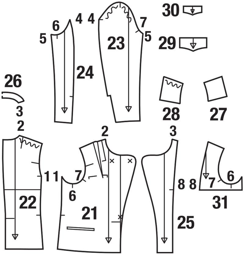Как сшить пиджак своими руками пошагово 280