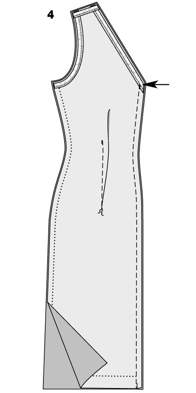 Как связать вытачки на платье