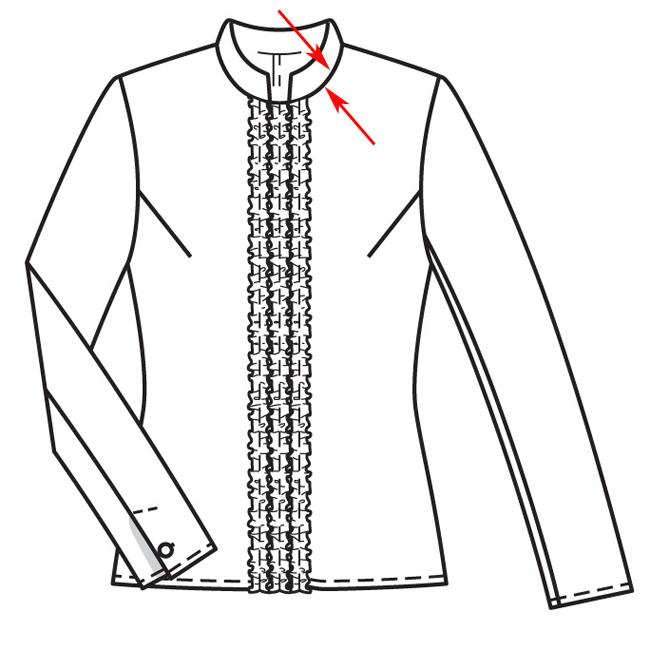 Блузка с воротником стойкой как сшить