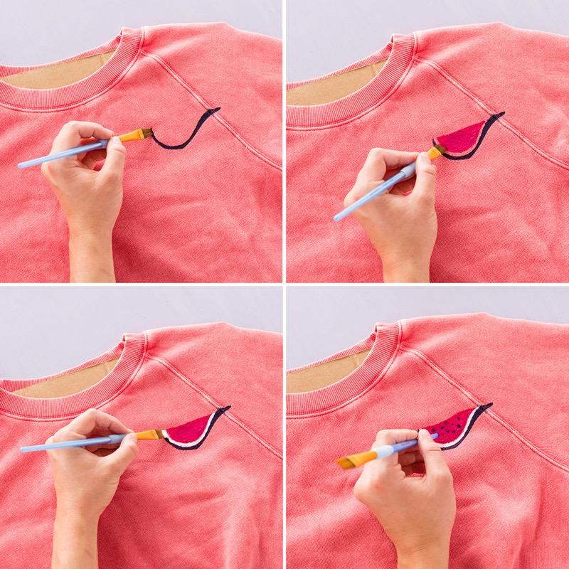 Рисуем на одежде акриловыми красками