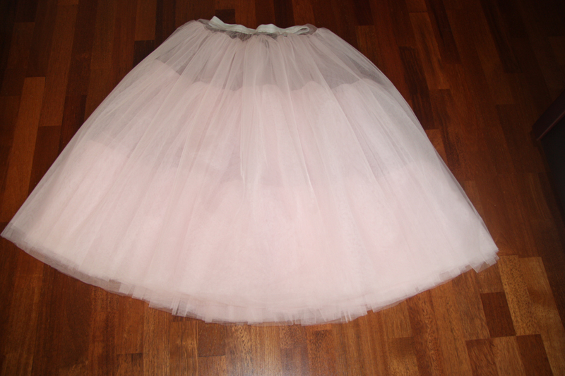 Как сделать юбку на платье пышное