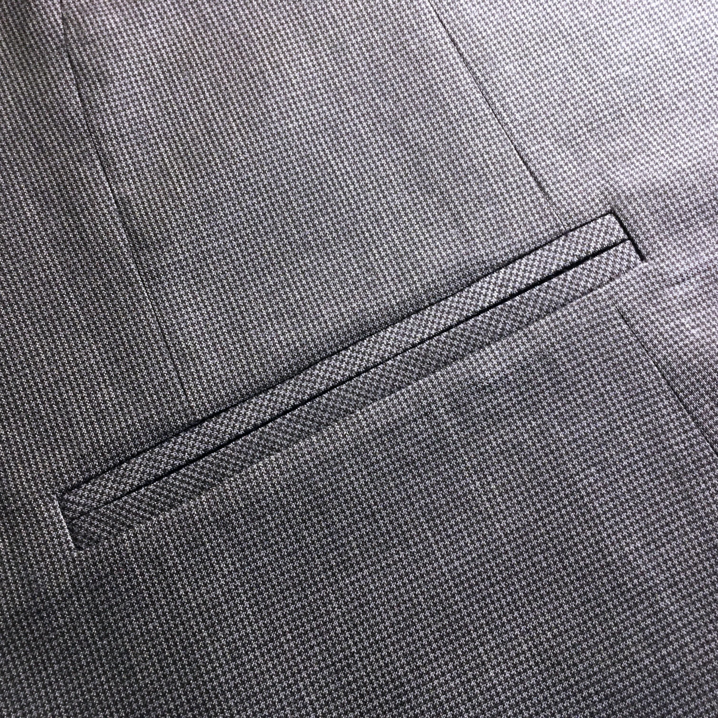Прорезной карман в рамку фото инструкция пошагово