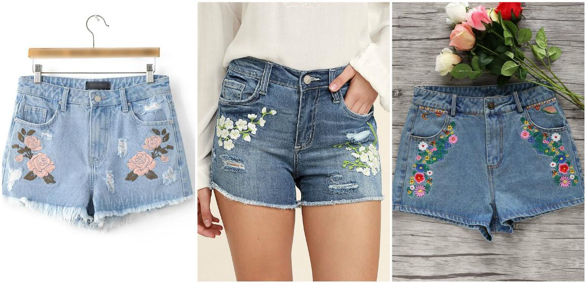 Декор джинсовых шорт своими руками 508