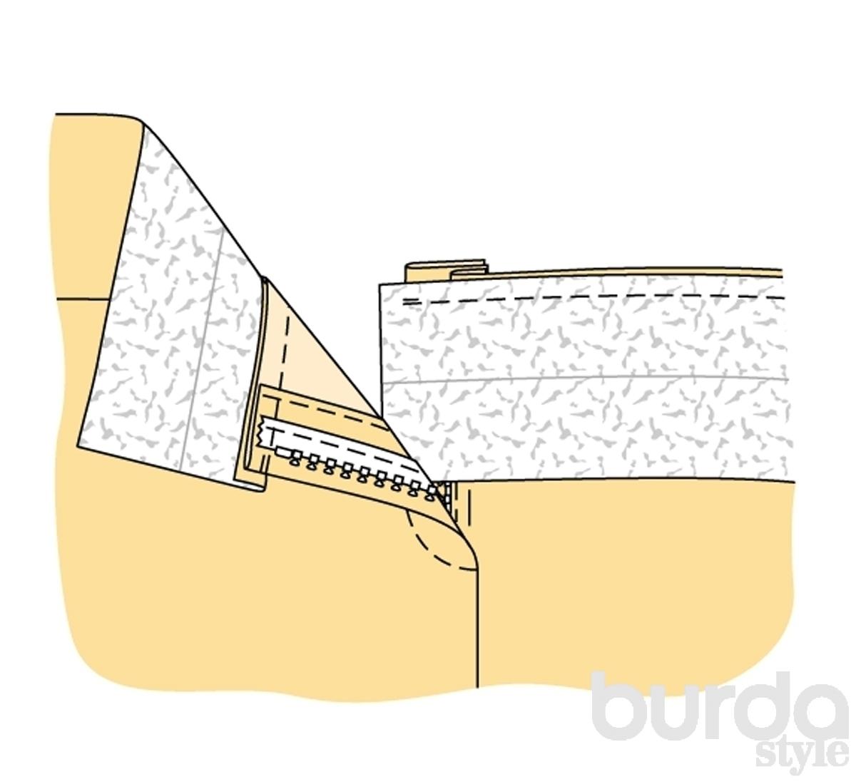 Как пришить пояс к юбке своими руками 7