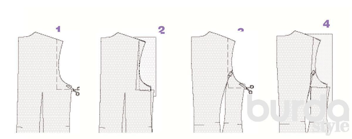 Как уменьшить выкройку по пройме
