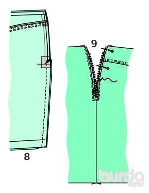Как открыть молнию на юбке