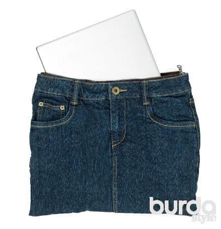 как сшить мини юбку из старых джинс: