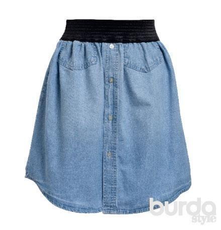Как из джинс сшить юбку модную