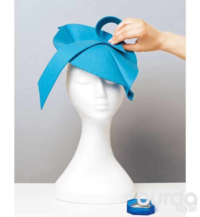 Женская шляпа из фетра своими руками 541