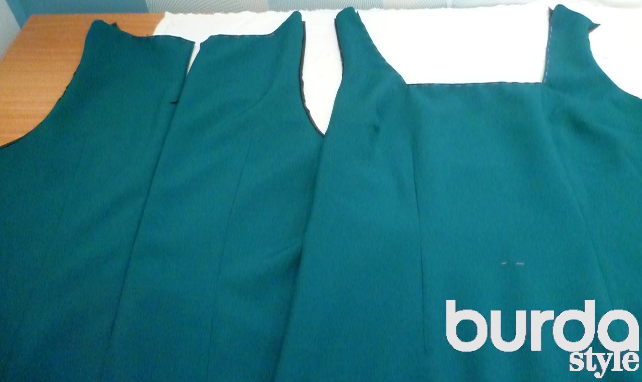Выкройка платья подкладки
