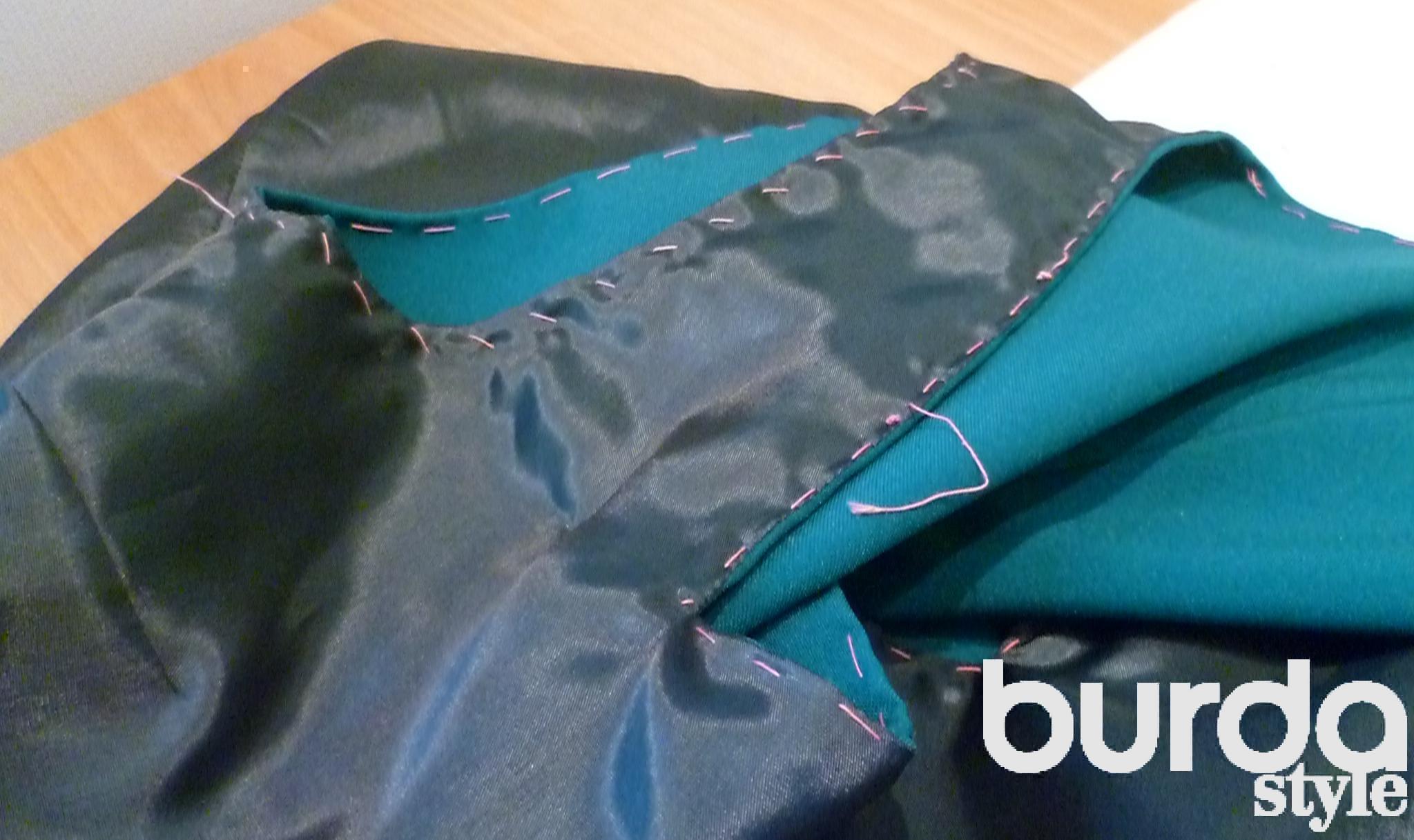 Как на платье без рукавов сшить подкладку