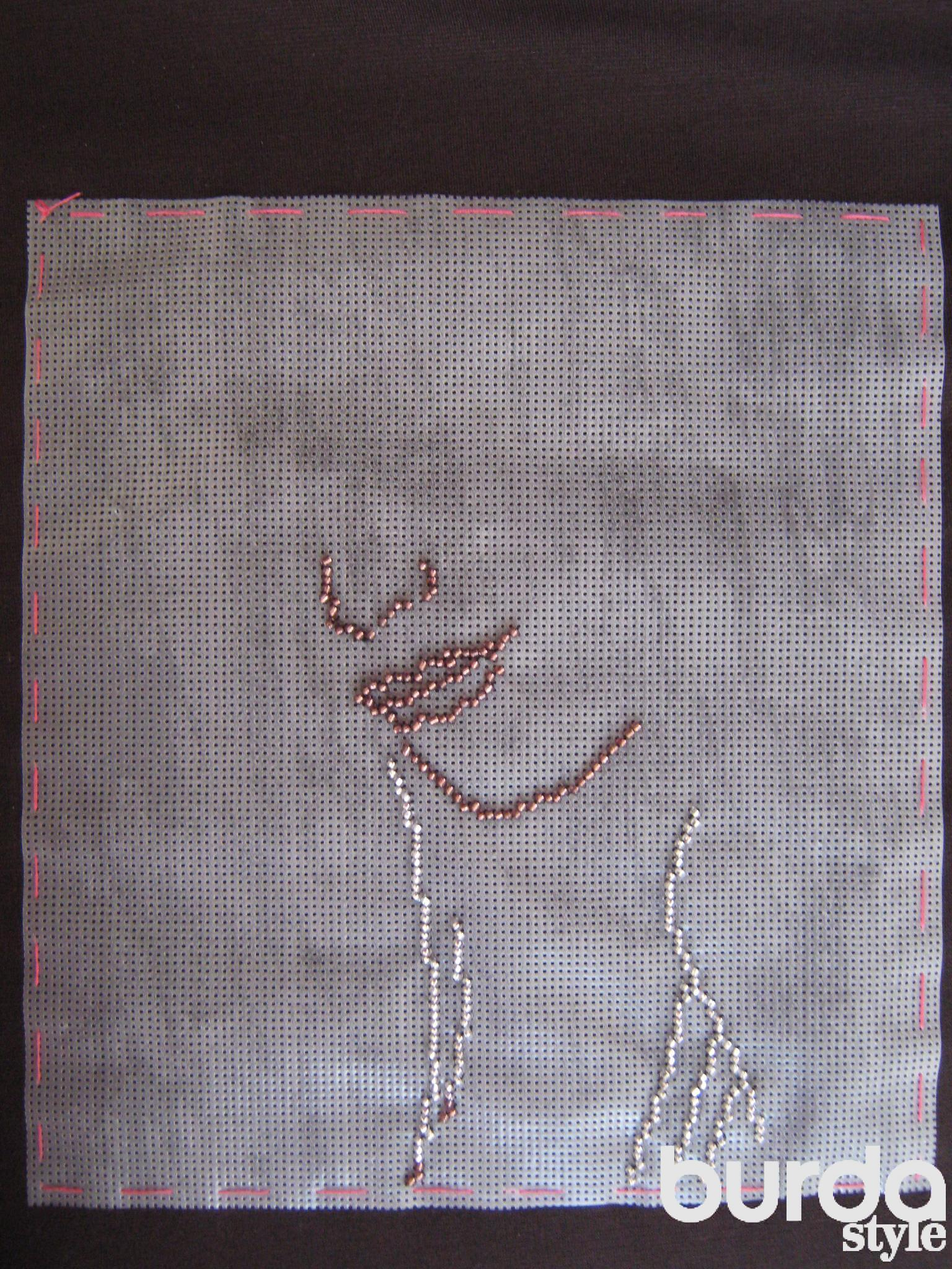 Водорастворимая канва для вышивки бисером 84
