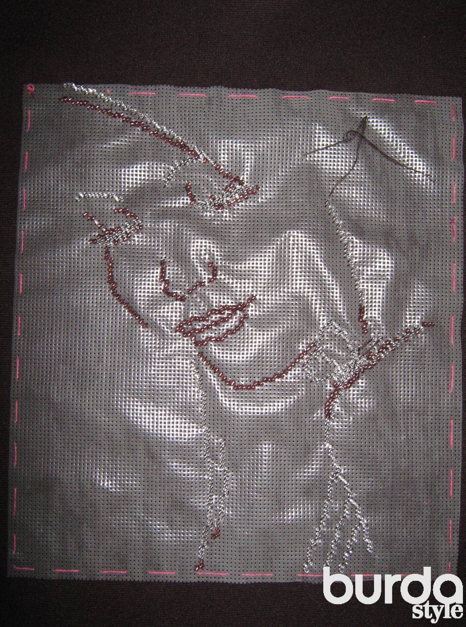 Водорастворимая канва для вышивки бисером 98