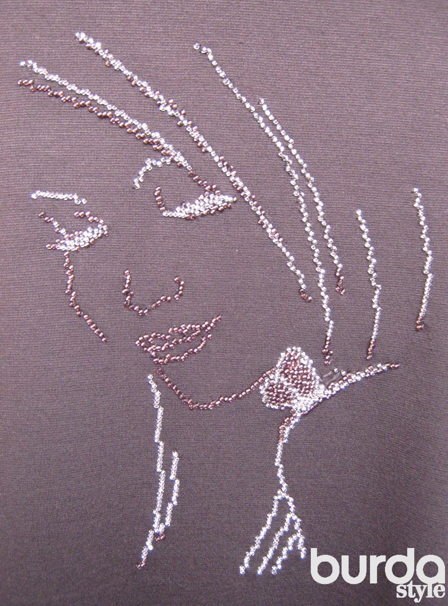 Как перевести рисунок вышивки на грубую ткань, трикотаж или 87