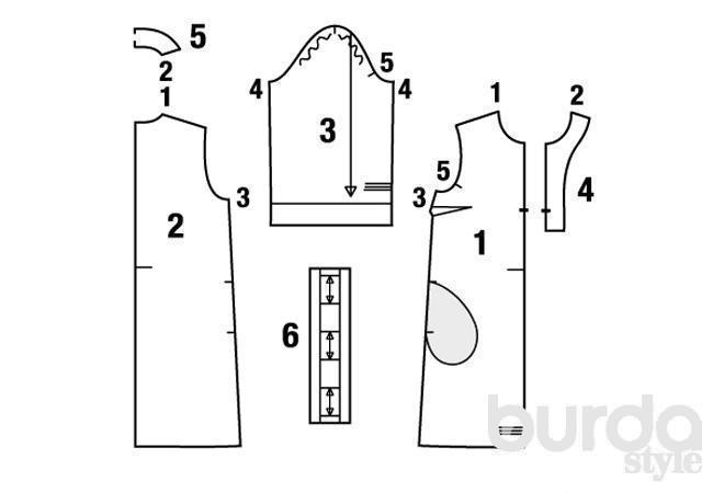 выкройка прямого платья 42 размера